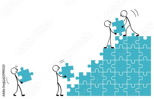 Fotografie, Obraz Build the puzzle staircase