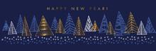 Hand Drawn Christmas Tree Hori...