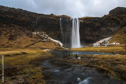 Fotografía  Wasserfall Seljalandsfoss in Island