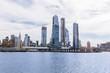 scenic view of new york buildings and atlantic ocean, usa