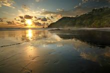 Costa Rican Beach At Sunset, Manuel Antonio National Park