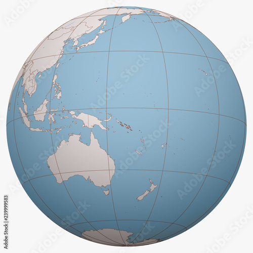 Solomon Islands on the globe  Earth hemisphere centered at