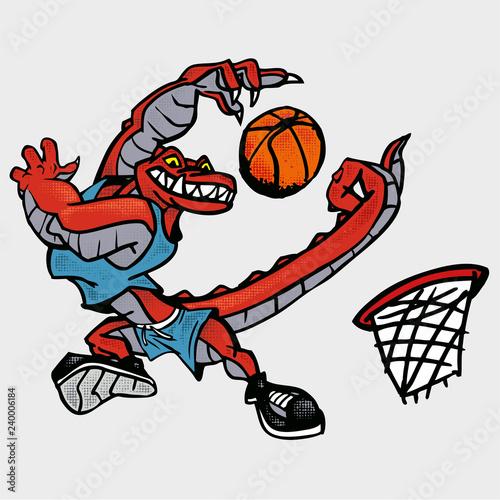Fototapeta premium Krokodyl koszykarz