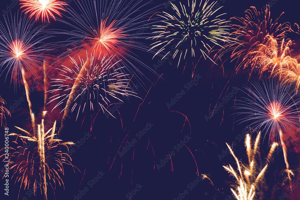 Fototapeta fireworks abstract background for celebration