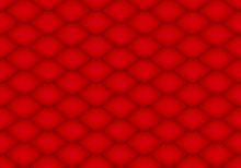3d Rendering. Seamless Modern Design Red Fish Or Snake Skin Surface Pattern Curve Texture Background.