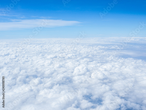 Photo Soft cloudscape view from airplane