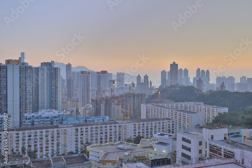 Photo  city scape of Middle kowloon at kowloon tong