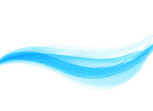 Watercolor Abstract Wave Background