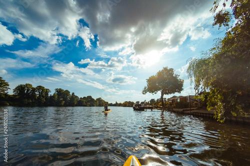 Fotografie, Obraz  Thames Paddeling