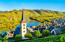 Saint Lawrence Church At The Moselle Bow - Bremm, Germany