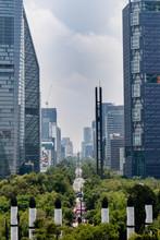 Aussicht Auf Statur Angel De La Independencia In Mexiko Stadt
