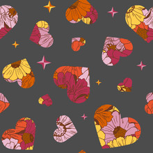Seamless Pattern With Hearts F...