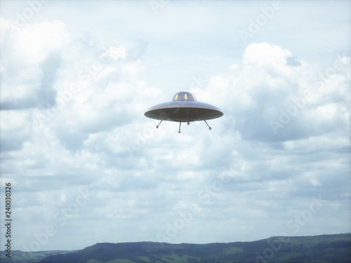 Unidentified flying object Wallpaper Mural