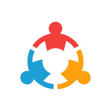 Three Group Of Teamwork People Logo Design