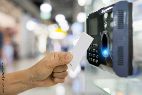 Photo Finger print and key card scan for enter security system
