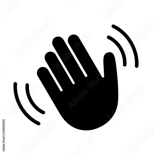 Photo Hand hello wave sign