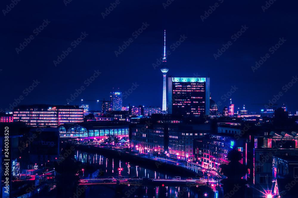 Fototapety, obrazy: Berlin skyline in the night