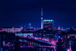 Berlin skyline in the night