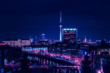 Berlin skyline in the night