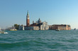 Venice skyline with bell tower