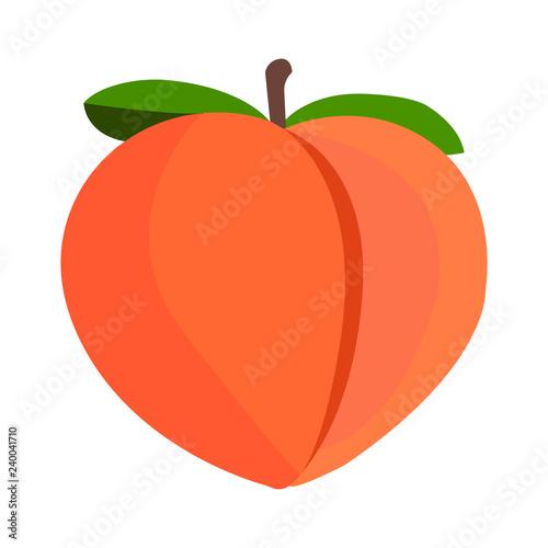 Peach emoji vector Canvas Print
