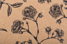 Flowers Pattern Paper For Text...