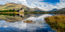 Kilchurn Castle Ruins On Loch Awe, Scotland