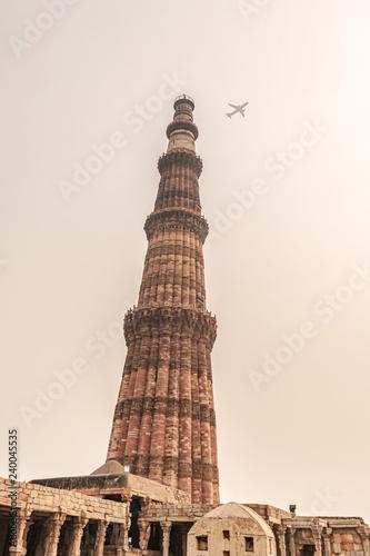 Fotografie, Obraz  The Qutub or Qutab Minar in Delhi India.