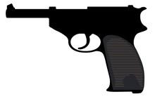 Walther Pistol, Gun. Vector Si...