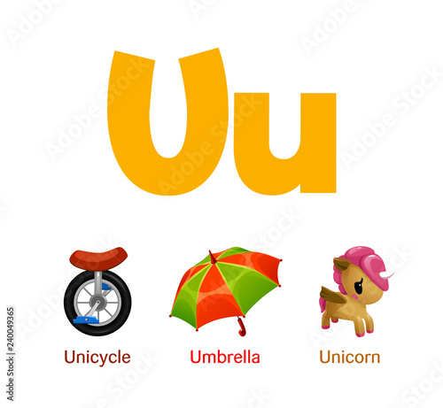 Cute children ABC animal alphabet flashcard words with the ...