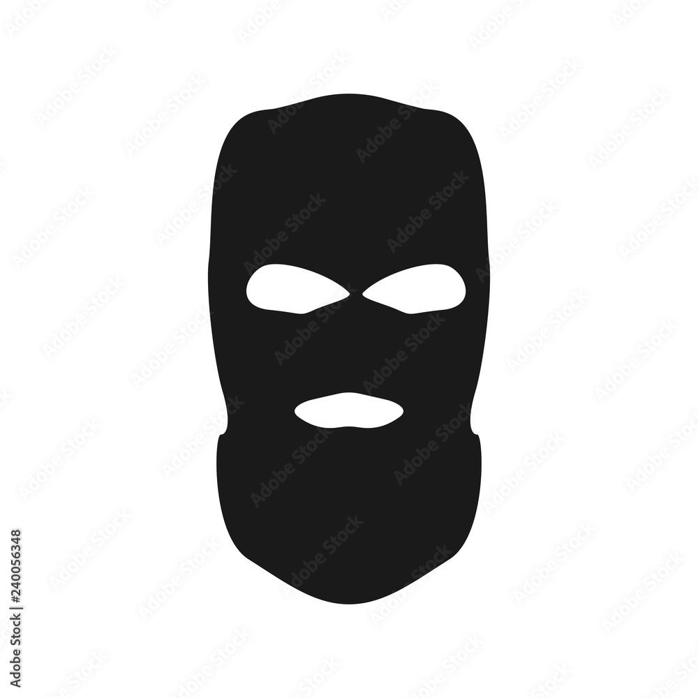Fototapeta Thief mask. Simple vector bandit head.
