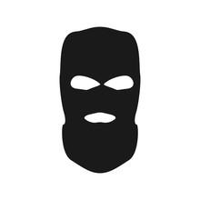 Thief Mask. Simple Vector Bandit Head.