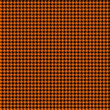 Orange And Black Houndstooth S...