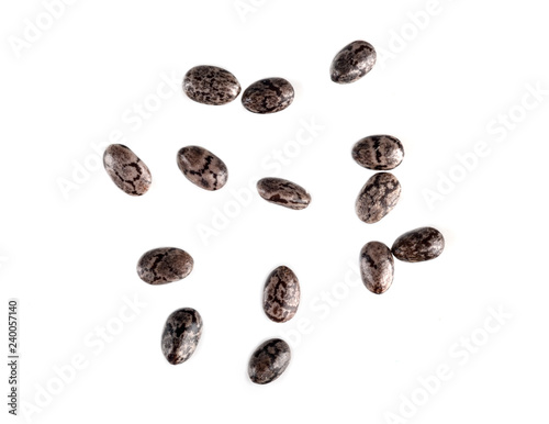 chia seeds macro isolated