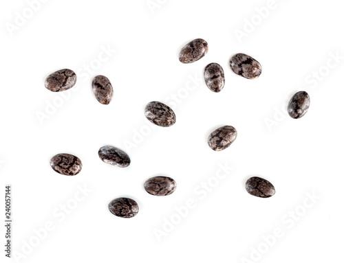 Stampa su Tela chia seeds macro isolated