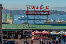 The Front Of Pike Place Market...