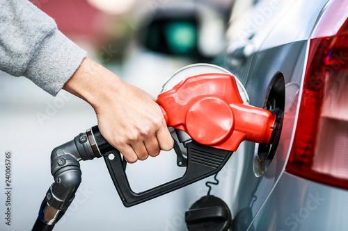 Fotografie, Obraz  ガソリンのセルフスタンド風景