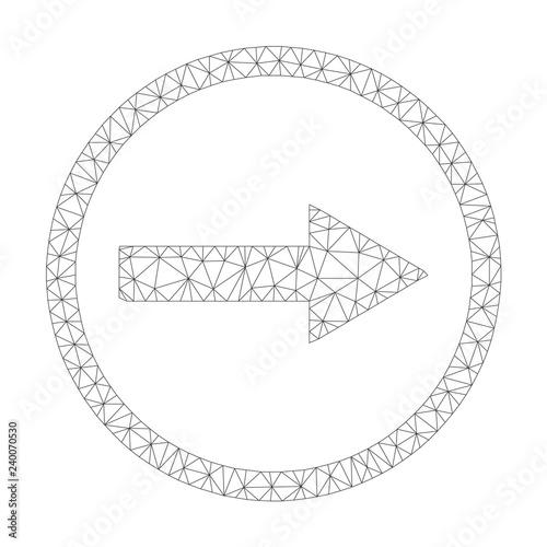julkaisutiedot ilmainen toimitus parhaiten myydä Mesh vector right rounded arrow icon on a white background ...