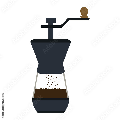 Photographie coffee grinder and beans