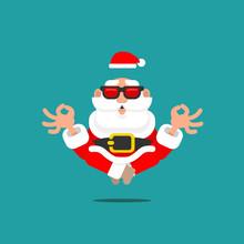 Older Santa Claus In Meditatio...