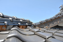 Tiled Roof Damaged By Disaster