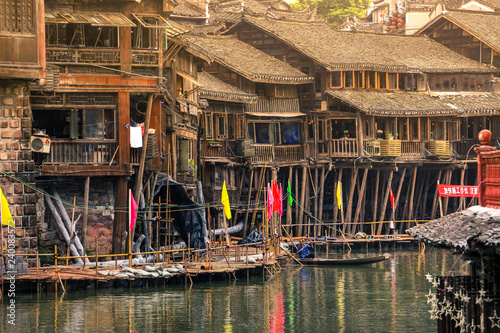 Landscape of Phoenix ancient town(Fenghuang),Hunan,China