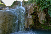 Waterfall At Little Jamaica Natural Swimming Hole (Littlefield, Arizona, USA)