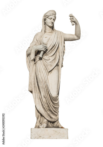 Stampa su Tela sculpture of the ancient Greek god Athena, isolate