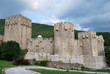 The walls and towers of the Manasija monastery in Serbia