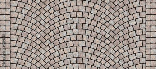 Fotografía Road curved cobblestone texture 092