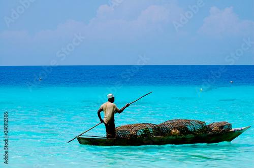 Montage in der Fensternische Sansibar Fisherman with Traps - Zanzibar - Tanzania