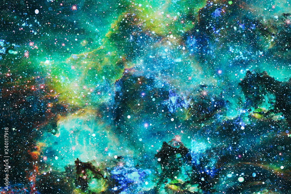 Fototapety, obrazy: Futuristic abstract space background. Night sky with stars and nebula. Elements of this image furnished by NASA