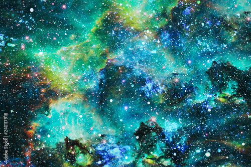 Fotografie, Obraz Futuristic abstract space background