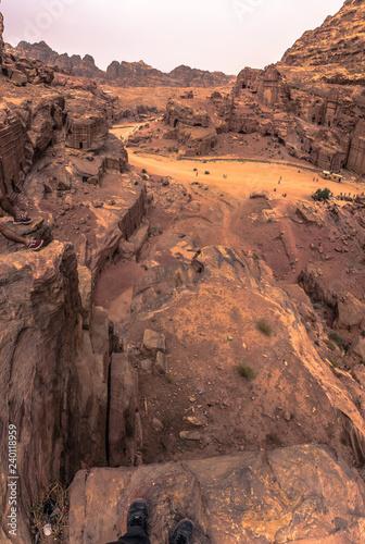 Tuinposter Petra - October 01, 2018: Ruins of the ancient city of Petra, Wonder of the World, Jordan